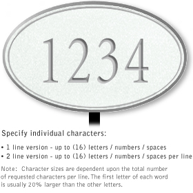 Salsbury 1431WSNL Signature Series Address Plaque