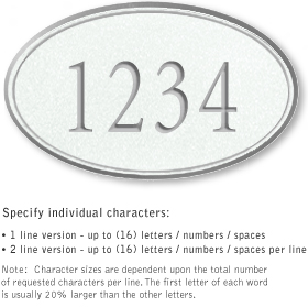Salsbury 1431WSNS Signature Series Address Plaque