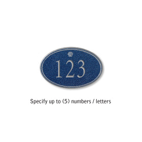 Salsbury 1439CSSS Signature Series Address Plaque