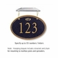 Salsbury 1435BGFH Signature Series Address Plaque