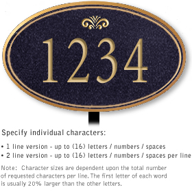 Salsbury 1430BGFL Signature Series Address Plaque