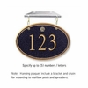 Salsbury 1435BGSH Signature Series Address Plaque