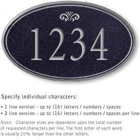 Salsbury 1430BSFS Signature Series Address Plaque