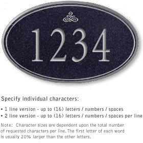 Salsbury 1430BSIS Signature Series Address Plaque