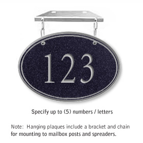 Salsbury 1435BSNH Signature Series Address Plaque