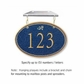 Salsbury 1435CGDH Signature Series Address Plaque
