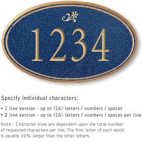 Salsbury 1430CGDS Signature Series Address Plaque