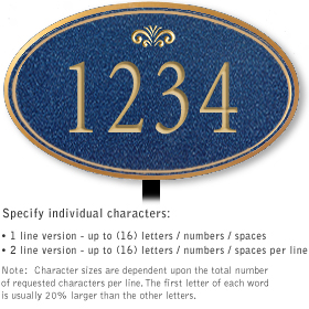 Salsbury 1430CGFL Signature Series Address Plaque