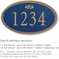 Salsbury 1430CGFS Signature Series Address Plaque
