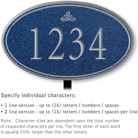 Salsbury 1430CSIL Signature Series Address Plaque