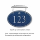 Salsbury 1435CSSH Signature Series Address Plaque