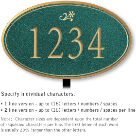 Salsbury 1430JGDL Signature Series Address Plaque