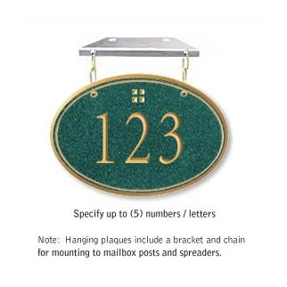 Salsbury 1435JGGH Signature Series Address Plaque