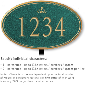 Salsbury 1430JGIL Signature Series Address Plaque