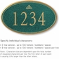 Salsbury 1430JGIS Signature Series Address Plaque
