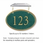 Salsbury 1435JGNH Signature Series Address Plaque