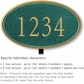 Salsbury 1430JGNL Signature Series Address Plaque