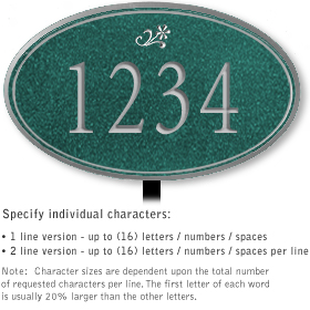 Salsbury 1430JSDL Signature Series Address Plaque