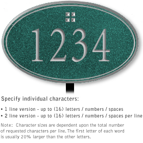 Salsbury 1430JSGL Signature Series Address Plaque