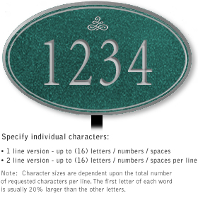 Salsbury 1430JSIL Signature Series Address Plaque