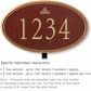 Salsbury 1430MGIL Signature Series Address Plaque