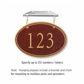 Salsbury 1435MGNH Signature Series Address Plaque