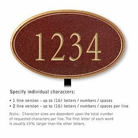 Salsbury 1430MGNL Signature Series Address Plaque