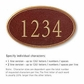 Salsbury 1430MGNS Signature Series Address Plaque