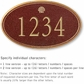 Salsbury 1430MGSS Signature Series Address Plaque