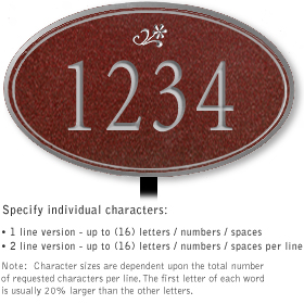 Salsbury 1430MSDL Signature Series Address Plaque