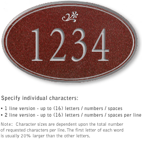 Salsbury 1430MSDS Signature Series Address Plaque