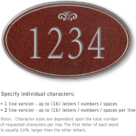 Salsbury 1430MSFS Signature Series Address Plaque