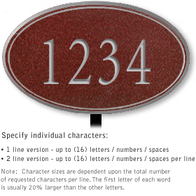 Salsbury 1430MSNL Signature Series Address Plaque