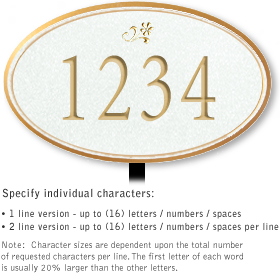 Salsbury 1430WGDL Signature Series Address Plaque