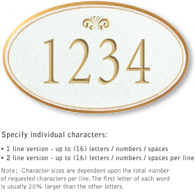 Salsbury 1430WGFS Signature Series Address Plaque