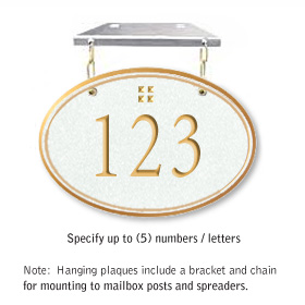 Salsbury 1435WGGH Signature Series Address Plaque
