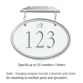 Salsbury 1435WSDH Signature Series Address Plaque