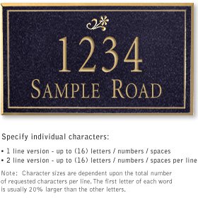Salsbury 1412BGDS Signature Series Address Plaque
