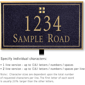 Salsbury 1412BGGL Signature Series Address Plaque
