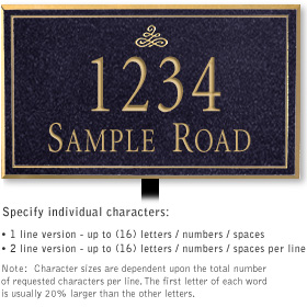Salsbury 1412BGIL Signature Series Address Plaque