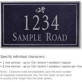 Salsbury 1412BSDS Signature Series Address Plaque