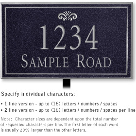 Salsbury 1412BSFL Signature Series Address Plaque