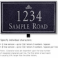 Salsbury 1412BSIL Signature Series Address Plaque