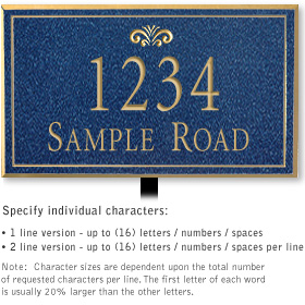 Salsbury 1412CGFL Signature Series Address Plaque