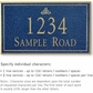 Salsbury 1412CGIS Signature Series Address Plaque