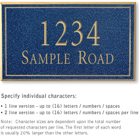 Salsbury 1412CGNS Signature Series Address Plaque