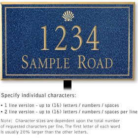 Salsbury 1412CGSL Signature Series Address Plaque