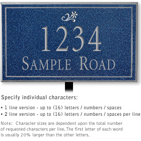 Salsbury 1412CSDL Signature Series Address Plaque