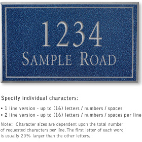 Salsbury 1412CSNS Signature Series Address Plaque