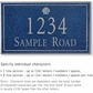 Salsbury 1412CSSS Signature Series Address Plaque